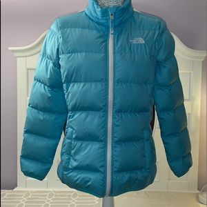 The North Face Girls XL (18) Puffer Jacket Blue